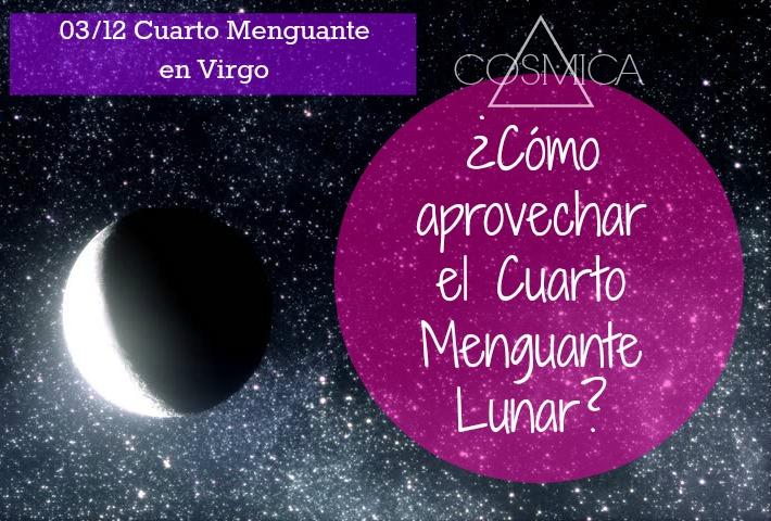Cómo aprovechar la Luna en Cuarto Menguante?   Cósmica by JosefinaG